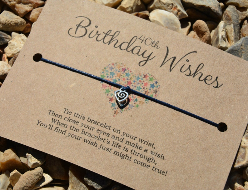 Wish Bracelet 40th Birthday Wishes Costume Jewellery Gift
