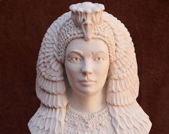 4e067c1609d Cleopatra Bust Figurine Statue Sculpture Handmade in The UK