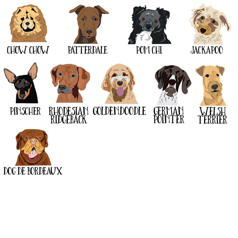 Personalized Dog Travel Passport Wallet, many breeds to choose from