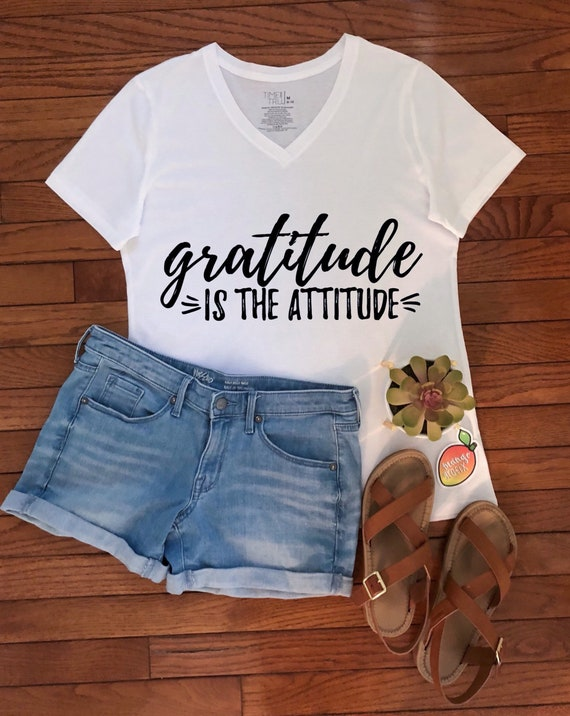 1d7812580 Gratitude is the Attitude Graphic Tee/T-Shirt | Etsy