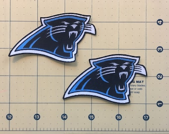57ac315c7 CAROLINA PANTHERS Iron-on No Sew Fabric Appliques 2 pc set