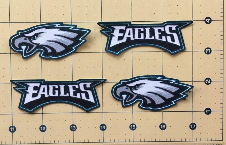 PHILADELPHIA EAGLES Iron-on No Sew Fabric Appliques 4pc set  Free Shipping