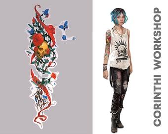 c9705225c17 Chloe Price Temporary Cosplay Tattoo