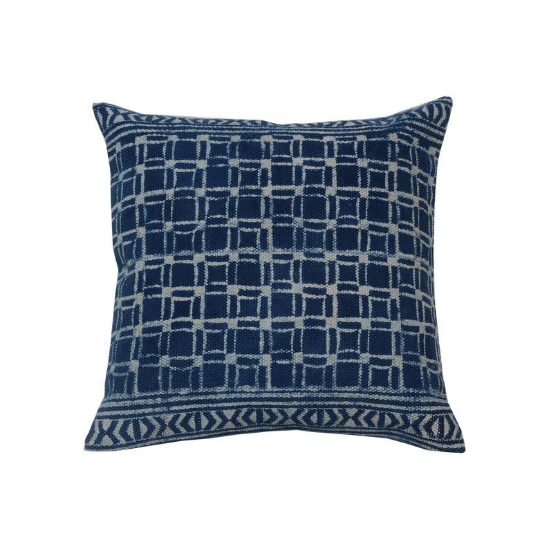 4 pcs set of  Boho Block Printed Throw Cushion Cover Indian Dhurries Pillow 45x45 cm Decorative Pillow Rustic Rug Pillow Sofa Pillow Cover