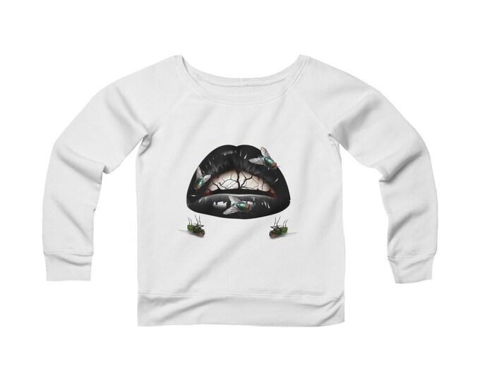 Kiss of Death V.2 Sponge Fleece Wide Neck Sweatshirt