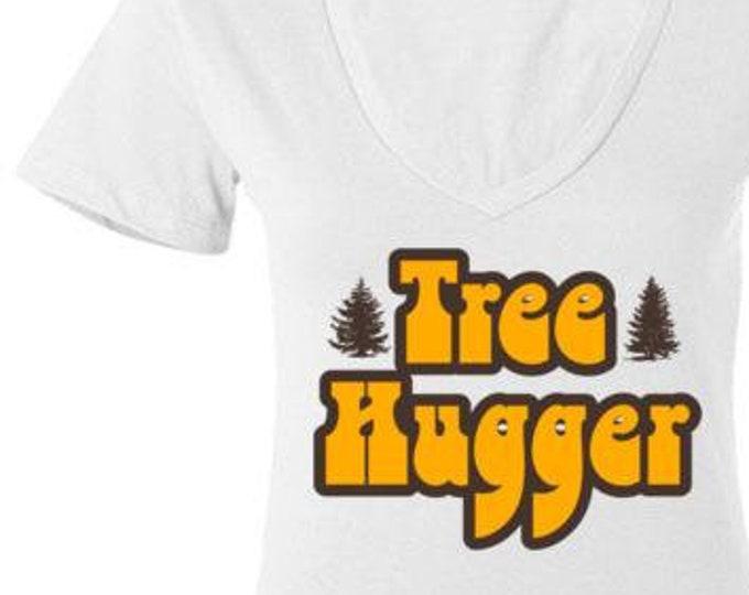 Tree Hugger Deep V Neck