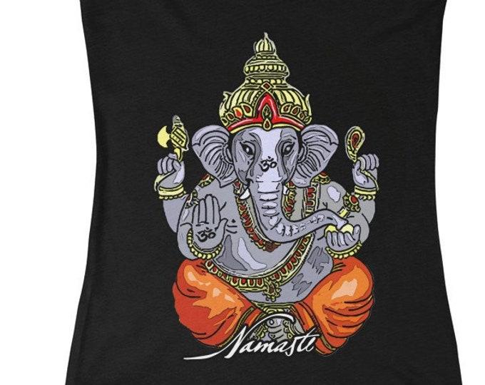 Ganesha Namaste Deep VNeck Tee 5 Colors