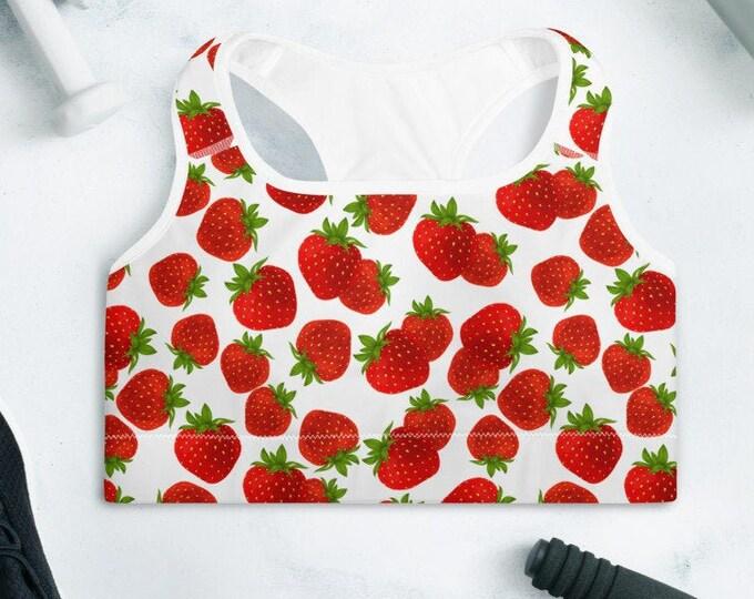 Strawberry Dreams Padded Sports Bra