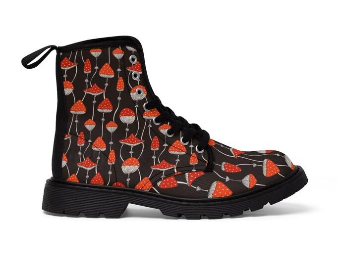 Toadstool Vegan Combat Boots