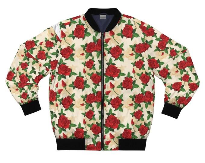 Tuscan Rose Bomber Jacket