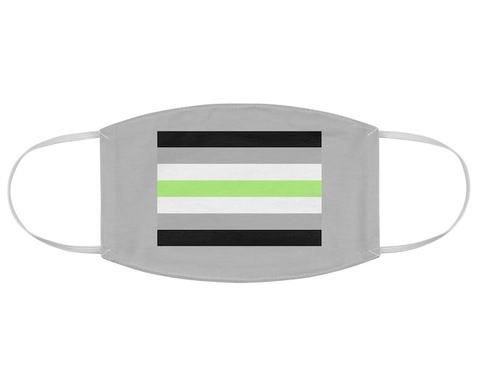 Agender Pride Flag Fabric Face Mask