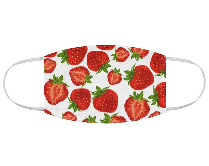 Strawberry Pattern Fabric Face Mask
