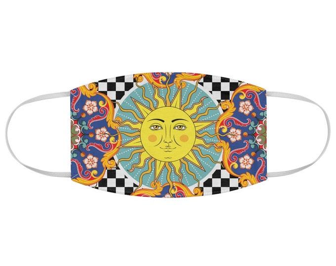 Vintage Sun Fabric Face Mask Boho, Bohemian,