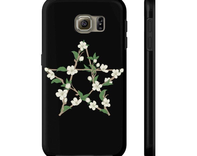 Flowery Pentagram -Case Mate Tough Phone Cases