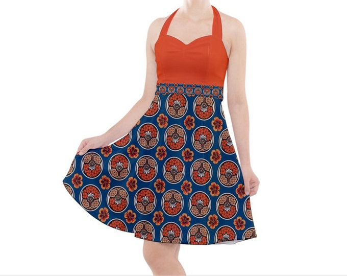 Tropic Vintage- Rockabilly Halter Dress