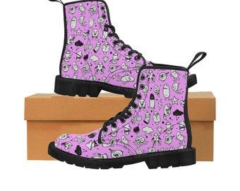 75a86bd41fee Adorable Graffiti Characters Debauchery Martin Boots - Purple