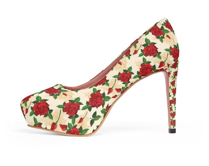 Tuscan Rose Platform Heels
