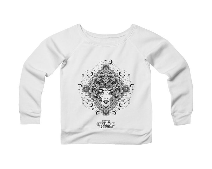 Goddess Mandala - Wide Neck -Off The Shoulder- Sweatshirt