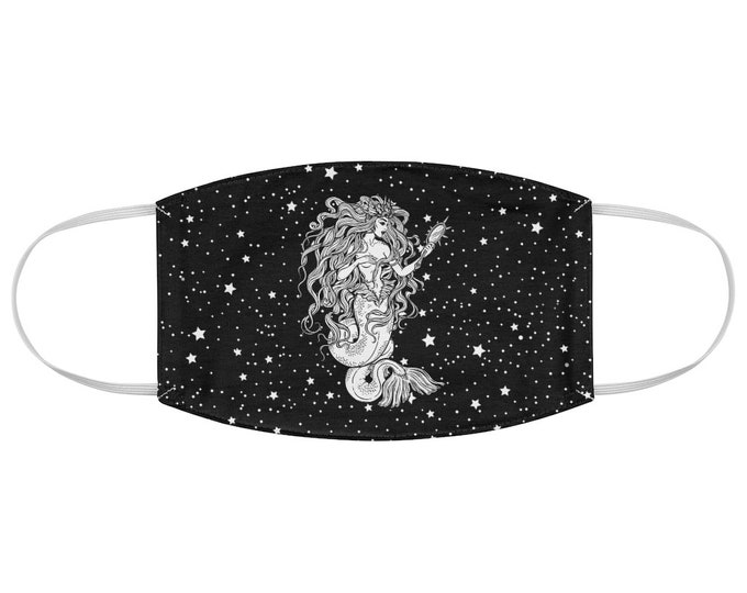 Cosmic Mermaid Fabric Face Mask
