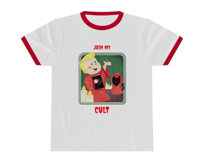 Join My Cult- Ringer Tee