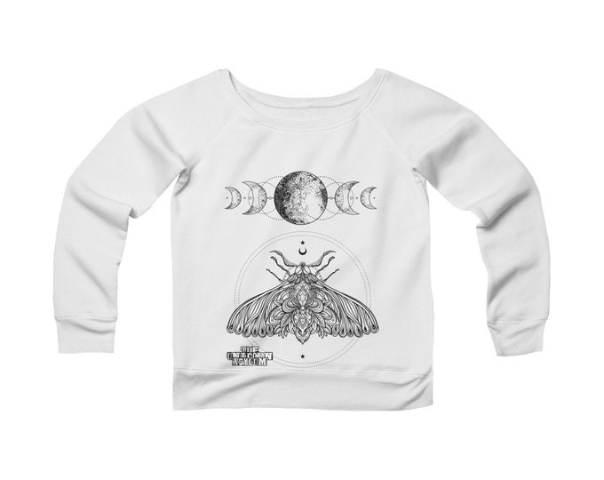 Moon Child Alchemy- Wide Neck Off The Shoulder Sweatshirt