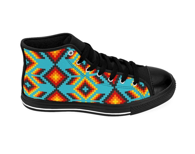 Turquoise Dusk High-top Sneakers