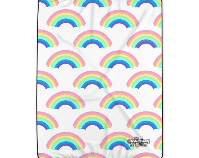 Rainbow Polyester Blanket