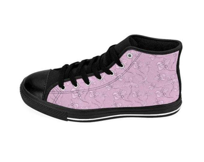 Whimsical Iris  HighTop Sneakers