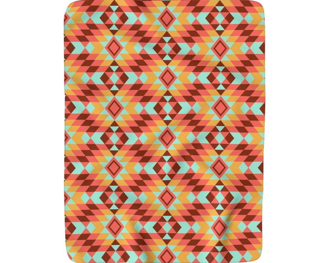 Apache Sunrise Fleece Blanket
