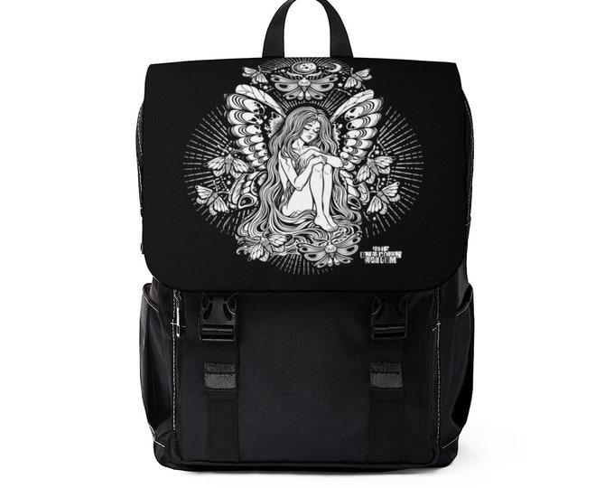 Moth Moon Goddess Shoulder Backpack