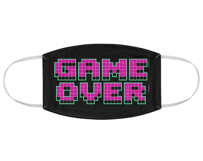 Game Over Gamer Fabric Face Mask