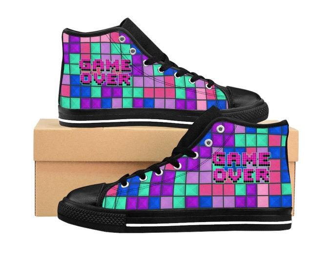 Game Over -Tetris Gamer Girl Sneakers