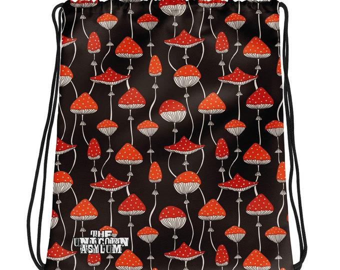 Magic Mushroom Drawstring bag