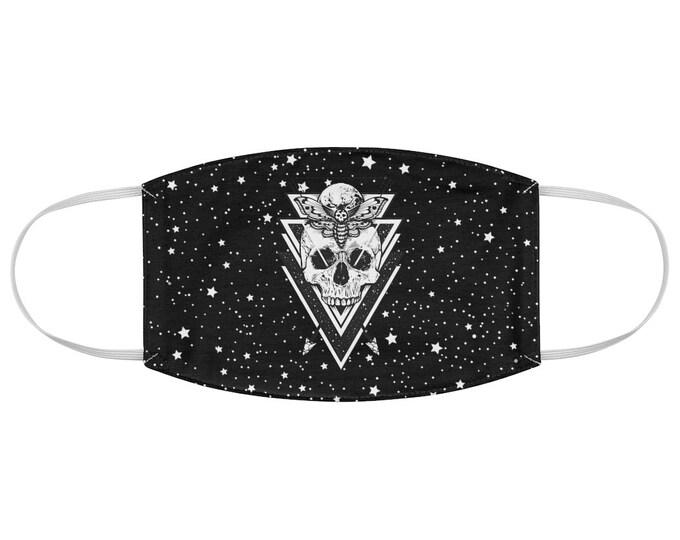 Sacred Geometry Death Hawk Moth Celestial Fabric Face Mask Deaths Head Skull Moth