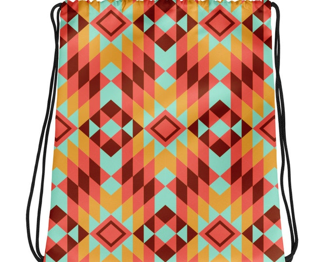Apache Sunrise Drawstring bag