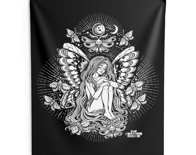 Fairy Moon Child Wall Hanging Tapestry
