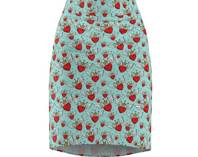 Sacred Heart Pencil Skirt
