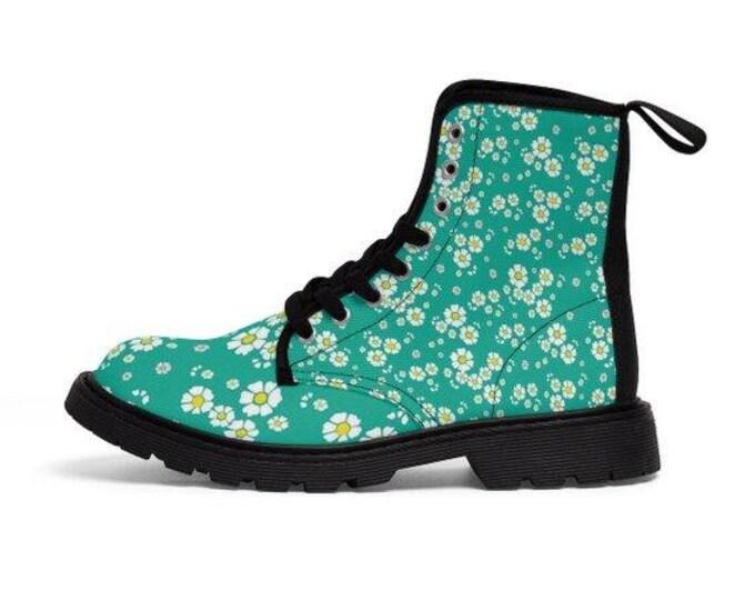 Spring Meadow Vegan Combat Boots