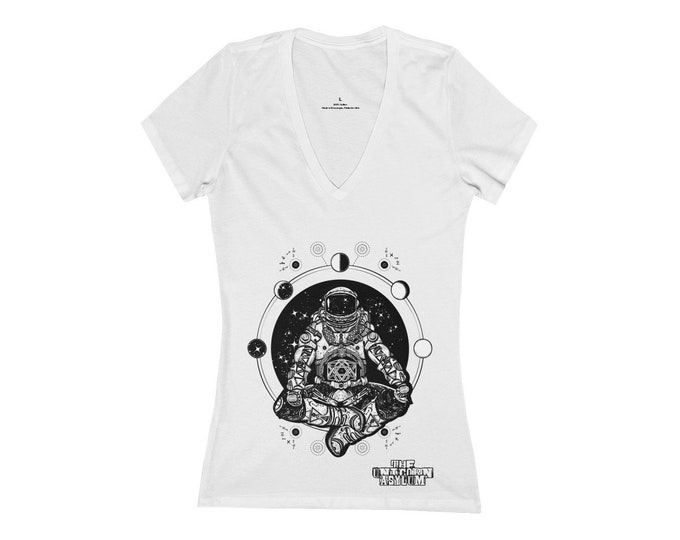 Cosmic Astronaut of The Multi-Verse - Deep V-Neck Tee