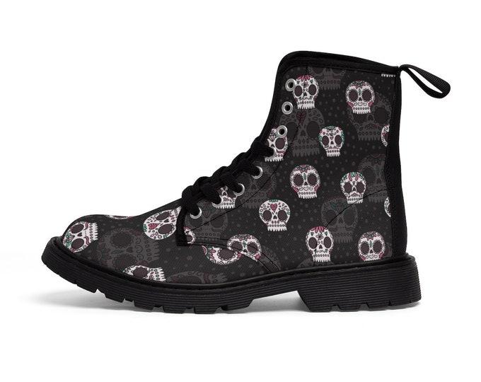 Sugar Skulls -Combat Boots