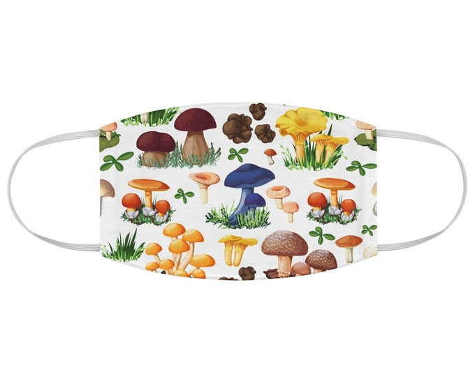Adorable Mushroom Pattern Fabric Face Mask