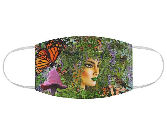 Mother Nature Fabric Face Mask, Gaia, Tree of Life, Earthy, Boho, Hippie, New Age, Pagan