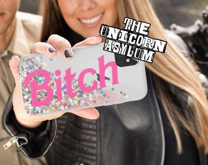 Bitch Liquid Glitter iPhone Case