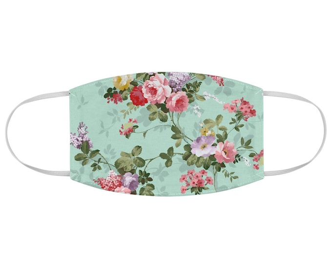 Vintage Floral Fabric Face Mask