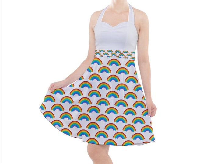 Rainbow - Rockabilly Halter Dress