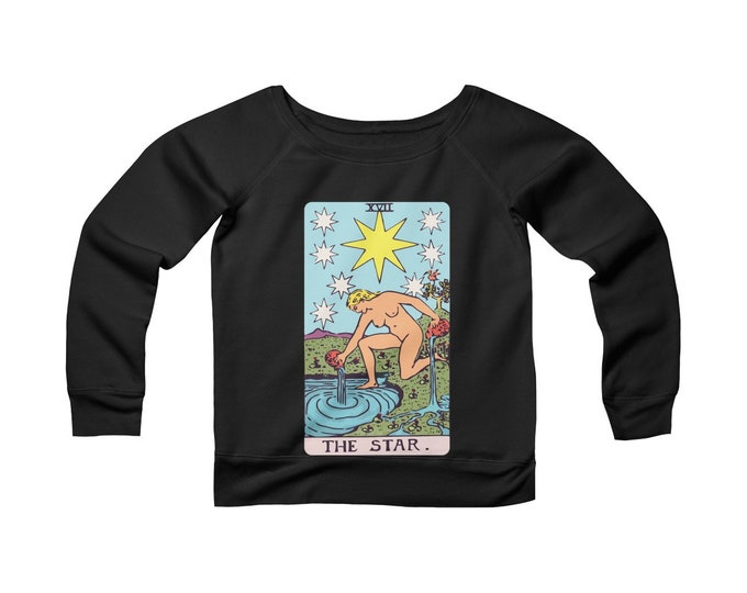 The Star Tarot -Wide Neck -Off The Shoulder- Sweatshirt