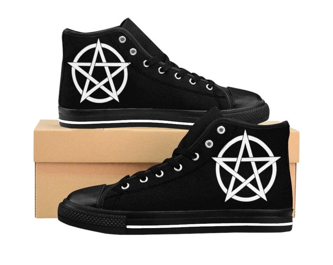 Pentagram High-top Sneakers