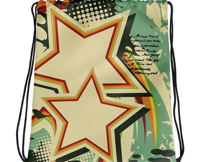 Retro Starbrite Drawstring bag