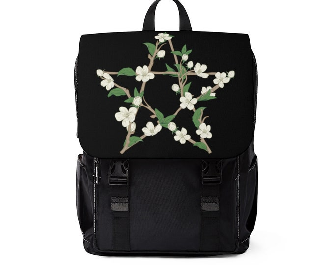 Flowery Pentagram Backpack