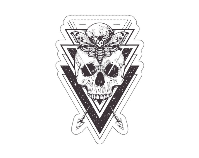 Sacred Geometry Death Hawk Kiss-Cut Decal